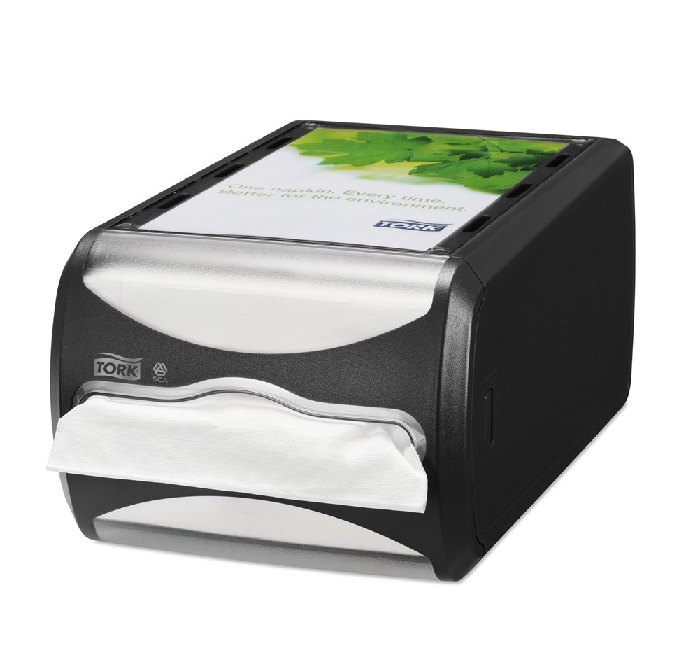 DISPENSER DA BANCO N4 TORK XPRESSNAP TOVAGLIOLI INTERCALATI / NERO