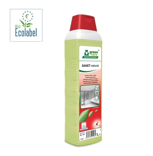 SANET NATURAL - DETERGENTE PER SANITARI ALL'ACETO LT.1 WERNERMERTZ
