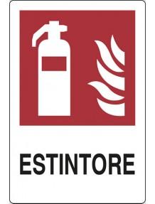 CARTELLO  ESTINTORE / ALLUMINIO CM.18X12